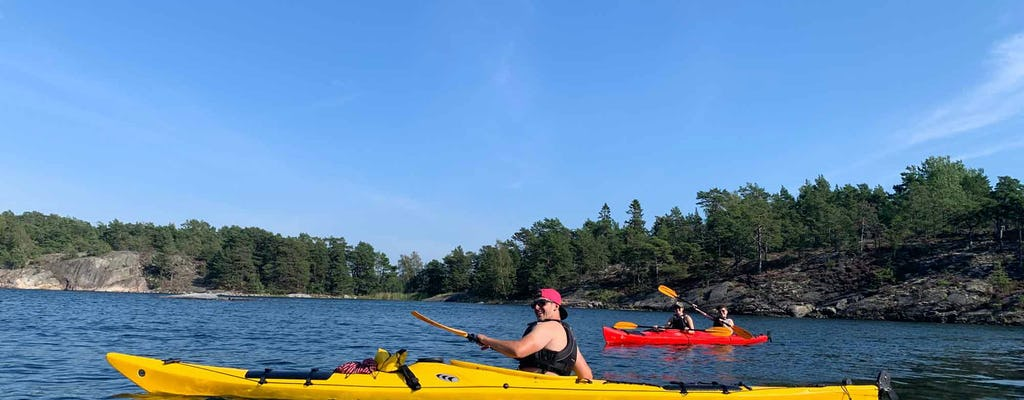 Guided kayak eco-tour in Stockholm Archipelago