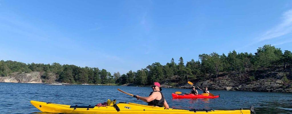 Recorrido ecológico guiado en kayak por el archipiélago de Estocolmo