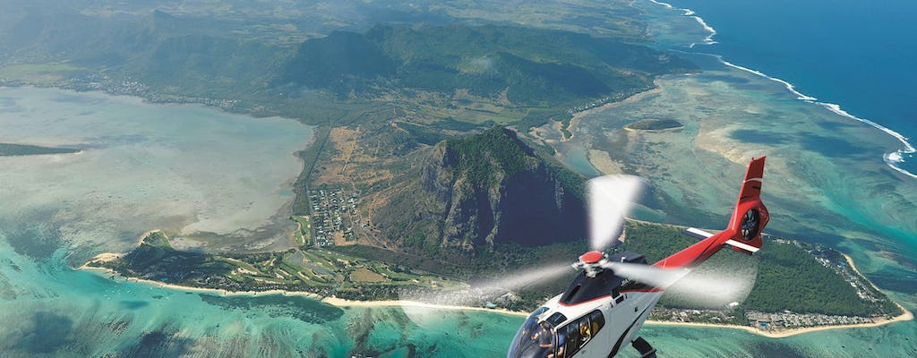 Helicopter tour in Mauritius