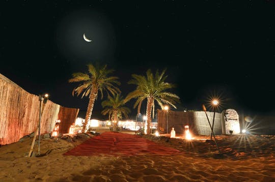 Desert safari with dinner in the golden desert dunes
