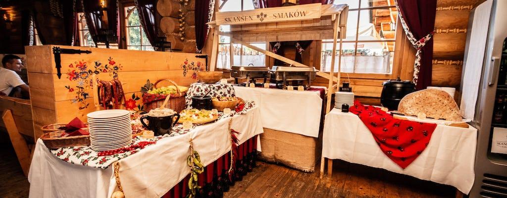Show folclórico polonês tradicional com jantar perto do lago Kryspinow