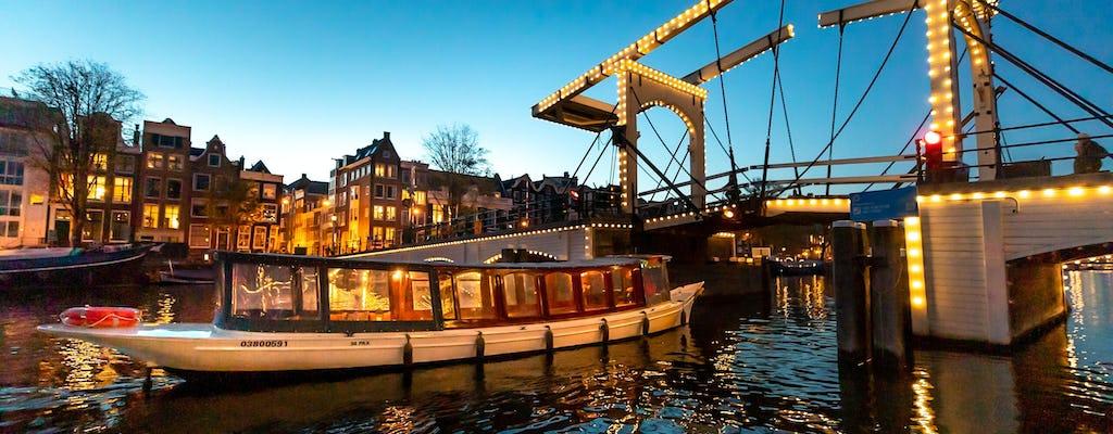 Crociera sul canale serale di Amsterdam da Anne Frank House