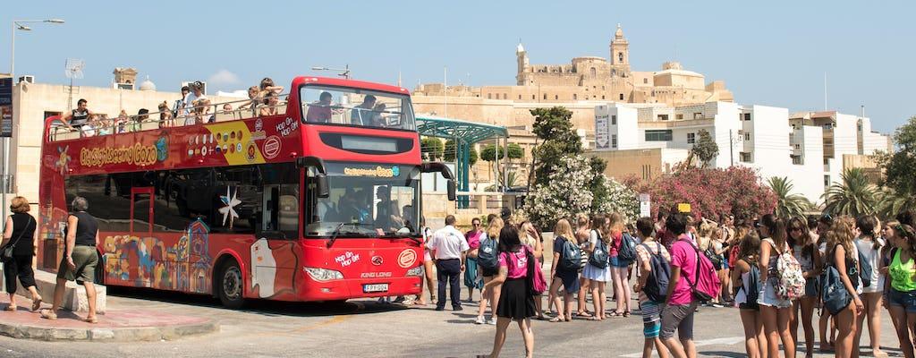 Excursão de ônibus hop-on hop-off de 1 dia em Gozo
