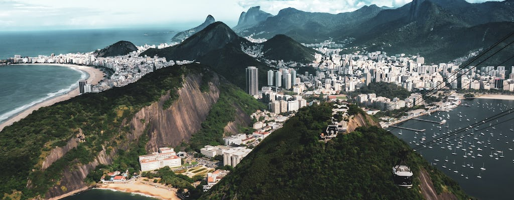 Scenic helicopter flight in Rio