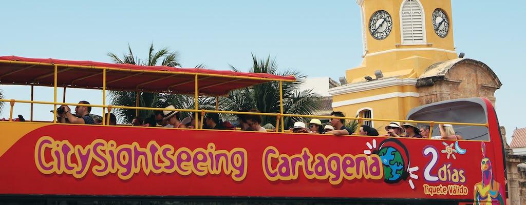 Hop on, hop off bustour door Cartagena