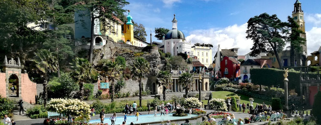 One day Portmeirion, castles and Snowdonia viewpoint tour
