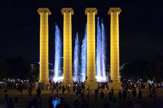 Barcelona fountains and football stadium