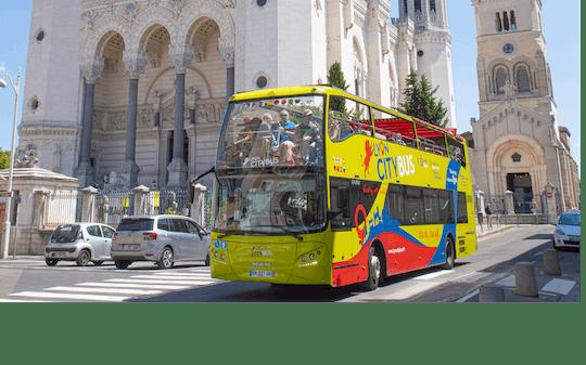 Lyon city hop-on hop-off bus tour