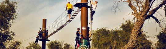 Aventura Park in Dubai adventure experience Leap of Faith