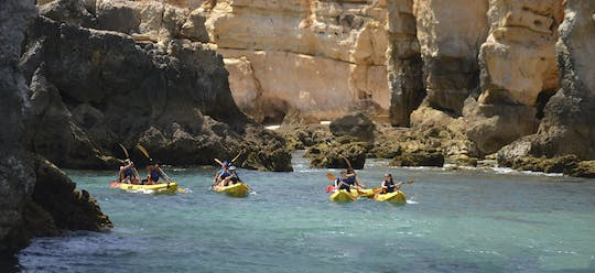 Albufeira coastline kayak tour