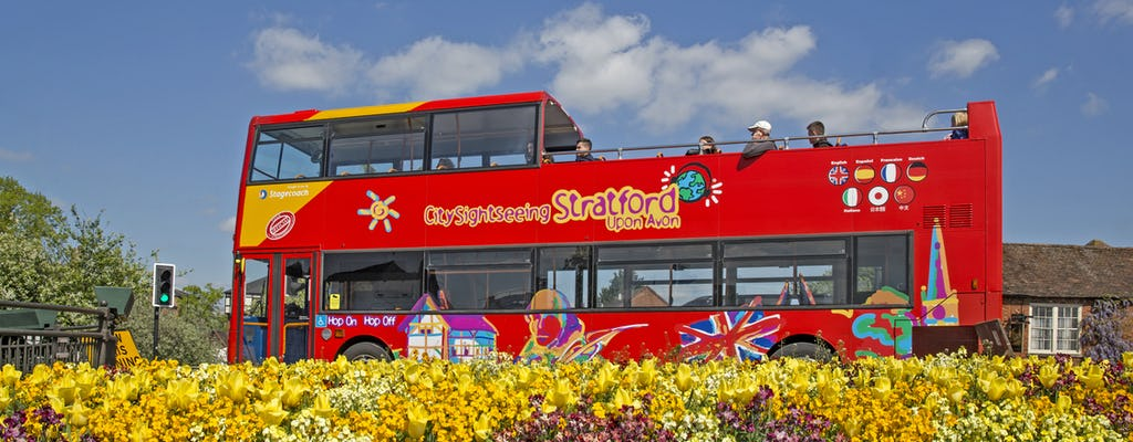 Hop-on hop-off bus tour of Stratford-upon-Avon