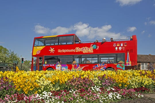 City Sightseeing hop-on hop-off bus tour of Stratford-upon-Avon
