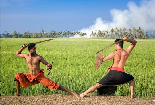 Actuación de artes marciales Kalaripayattu