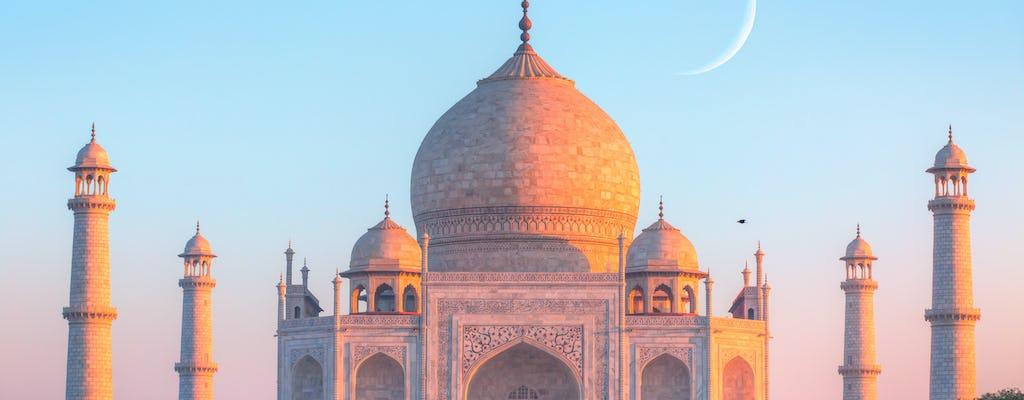 Visita al atardecer al Taj Mahal