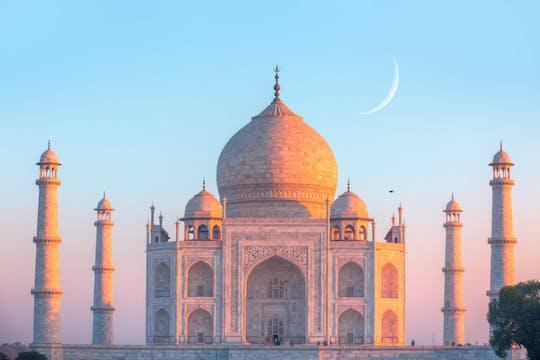 Sunset visit to Taj Mahal