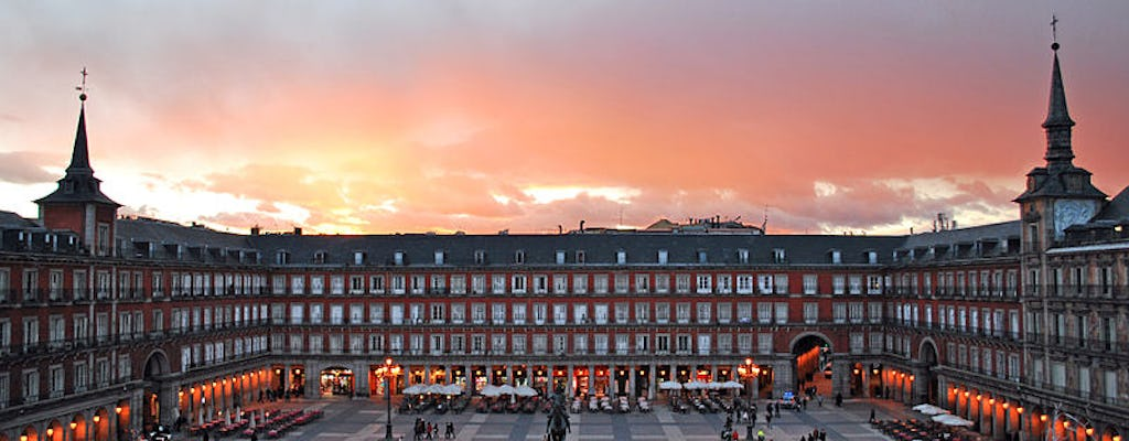 Sunset dinner overlooking Plaza Mayor