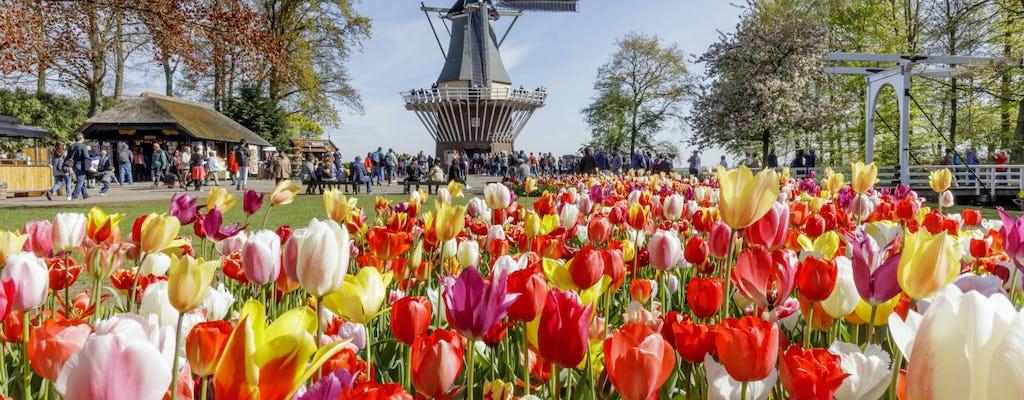 Day trip to Keukenhof flower fields, Volendam and Windmills