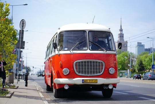 Warsaw sightseeing tour by retro bus