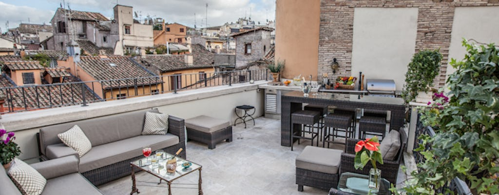 Pasta cooking class and lunch with a view of the Roman rooftops