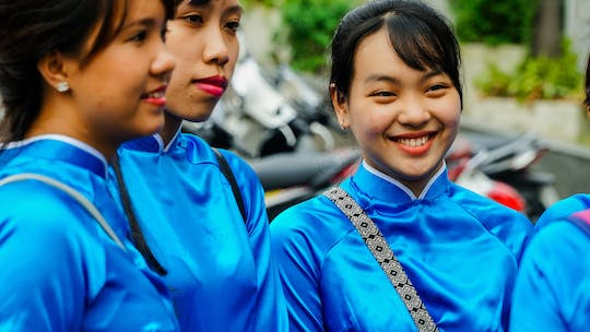 Ho Chi Minh City food tour on scooters with girl power riders