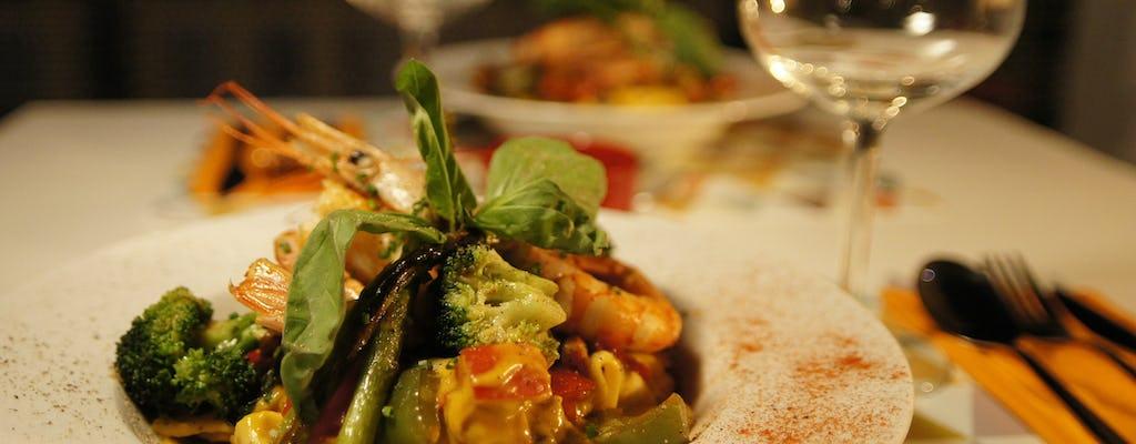 Menu gastronomique et accords mets et vins du cœur de Séville.