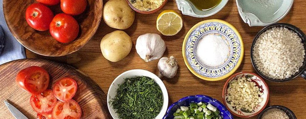 Práctica, clase de cocina tradicional griega