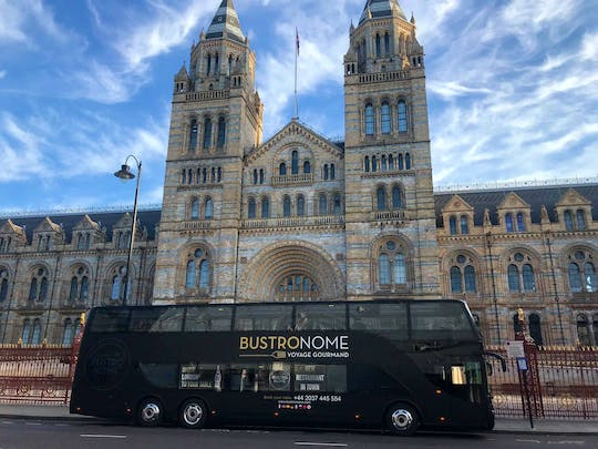 Luxury London bus tour with a gourmet dinner and panoramic view