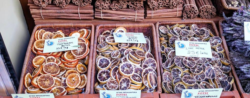 Visita al mercado de comida de Atenas y almuerzo