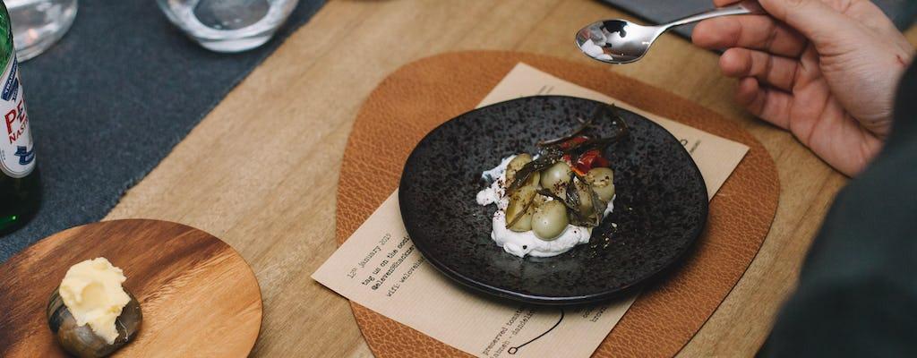 Menu innovativo di degustazione sostenibile a Hackney