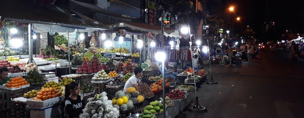 Wandeling 's nachts eten markt in Ho Chi Minh-stad