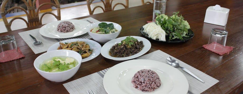 Thai family dinner in Chiang Mai