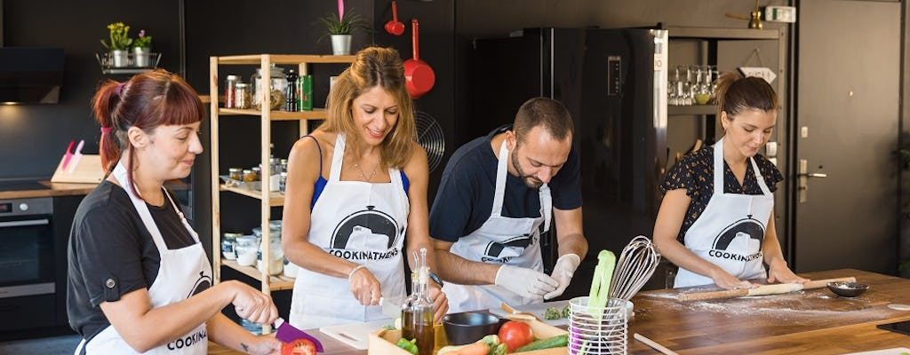 Traditional Greek cooking class and lunch in Monastiraki