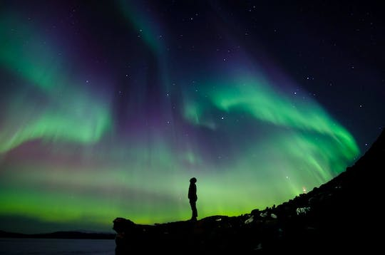 Hunt for northern lights tour in a super jeep private tour