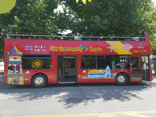 Tour em ônibus panorâmico por Corfu