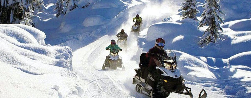 Tre Cime di Lavaredo snowmobile safari tour
