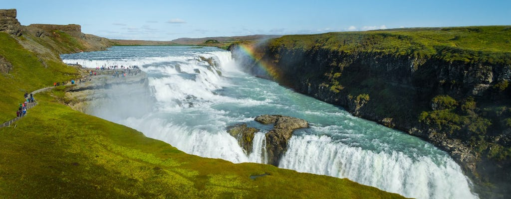Visit geysers and waterfalls in a private full-day tour