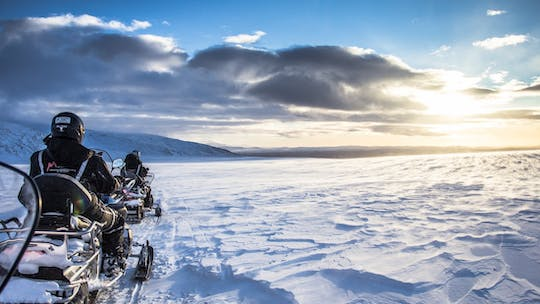 Explore the golden circle and an ice cave with snowmobiling trip