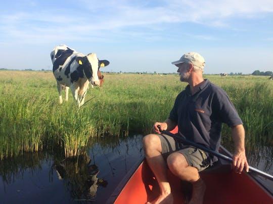 Passeio de canoa ao pôr do sol de Amsterdã até a região de Waterland