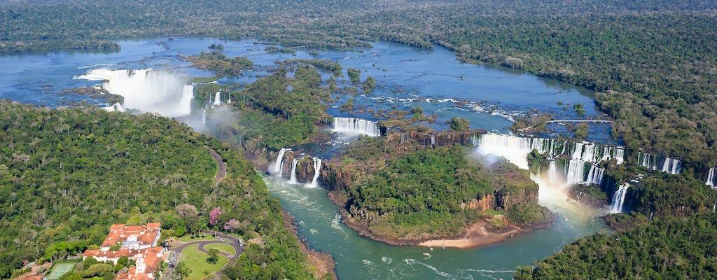 Iguassu Falls Brazil side with optional Macuco safari, helicopter flight, and Bird Park