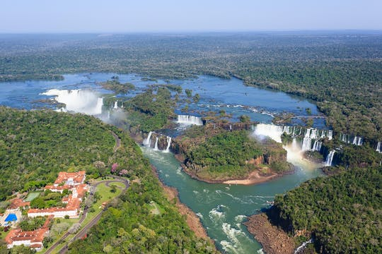 Iguassu Falls Brazil side with optional Macuco safari, helicopter flight, and Bird Park