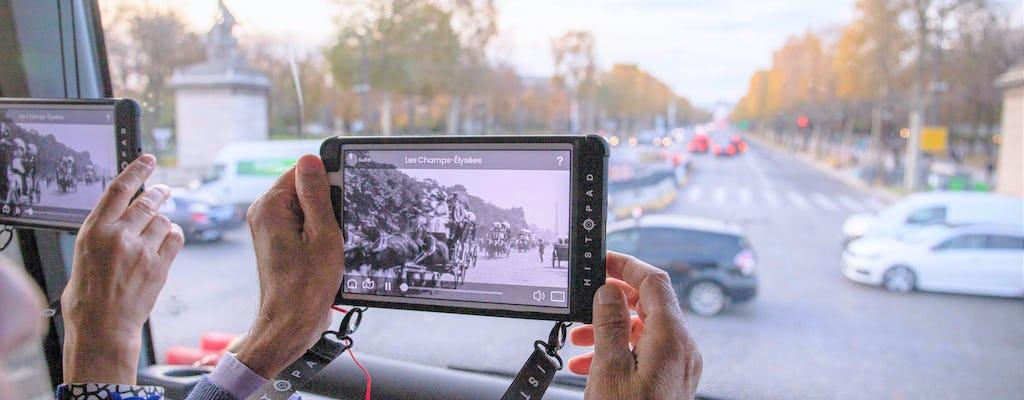 Tour envolvente de ônibus em Paris com tablet interativo