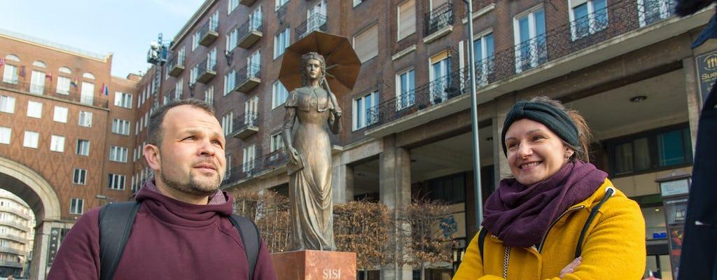 Binnenstad van Boedapest met een historicus