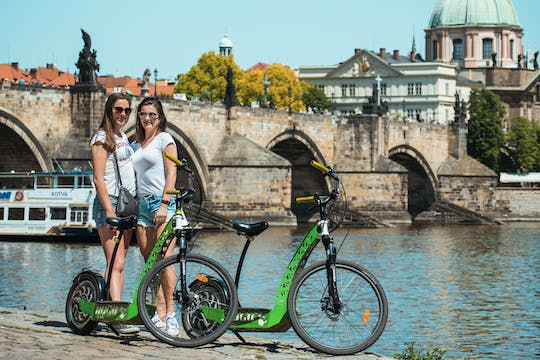 7 best sites in Prague in 1 hour e-scooter HUGO bike tour