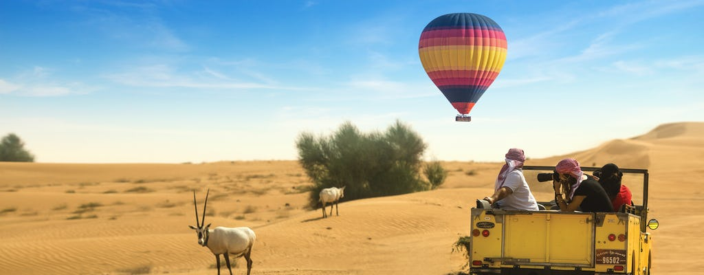 Paseo en globo aerostático, cetrería, desayuno, paseo por la vida salvaje