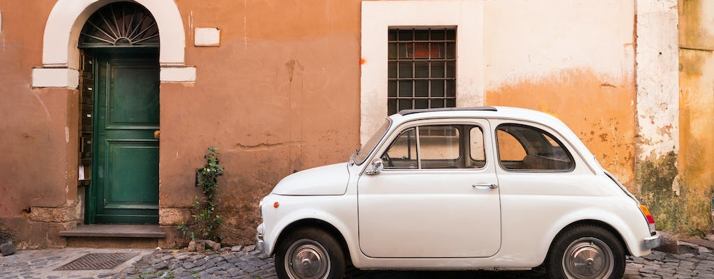 Vintage car tour of Rome with coffee break