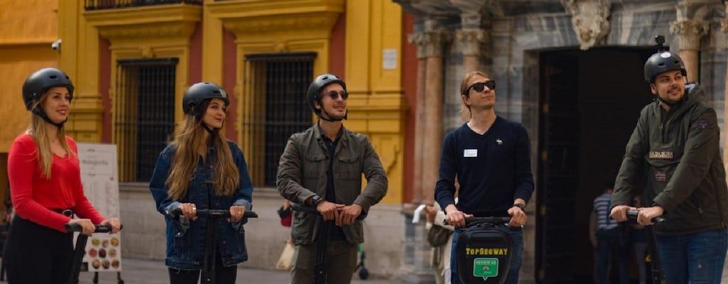 Panoramic self-balancing  scooter tour of Malaga