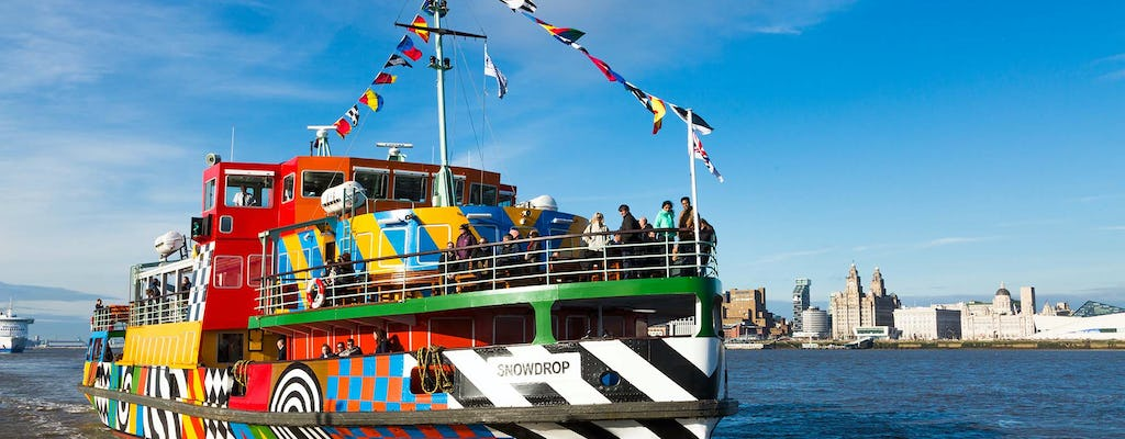 River Mersey explorer cruise with open top bus and cathedral tower options