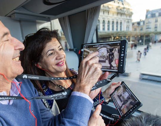Interactive tour of Paris by bus and tickets for a Seine cruise