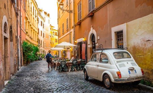 Excursión de medio día a Roma en auto clásico con almuerzo o cena
