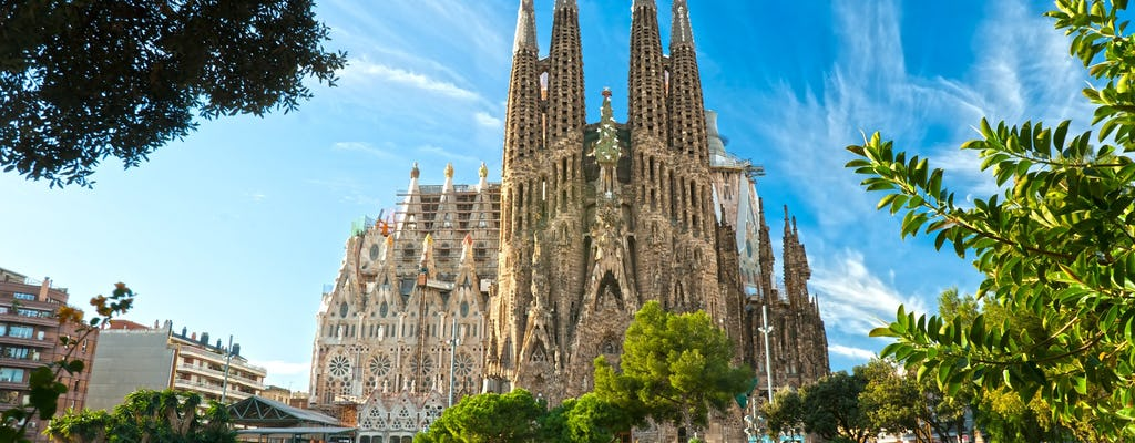 Park Güell and Sagrada Familia fast-track-tickets with tower access and transfer